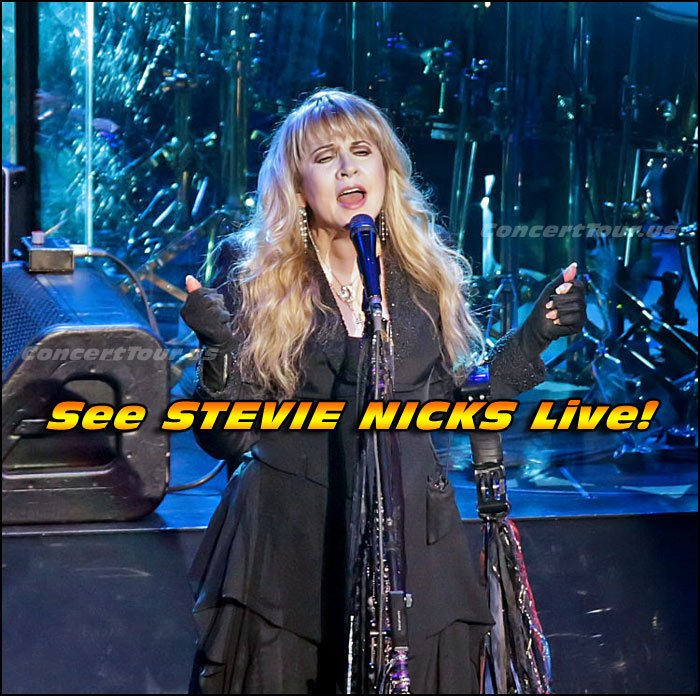 See STEVIE NICKS Live in Concert this year on her 24 Karat Gold Concert Tour!