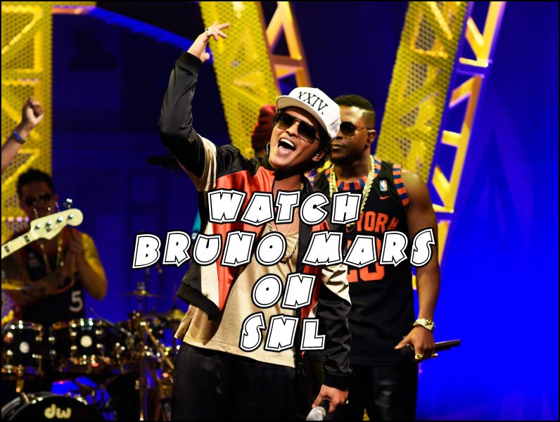 BRUNO MARS was the musical guest on Saturday Night Live on October 15th 2016. His Performance was awesome!