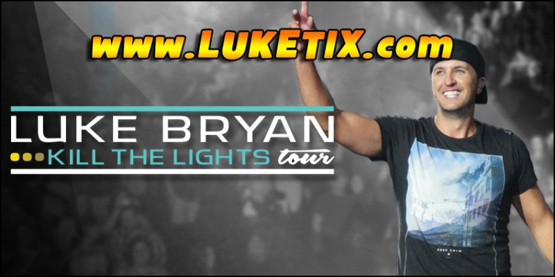 LUKE BRYAN is starting his 2017 tour early, so get your tickets now! See him & his Kill The Lights Tour at a venue near you!