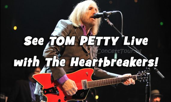 Don't miss your chance to see Tom Petty & The Heartbreakers live in concert in 2017!!