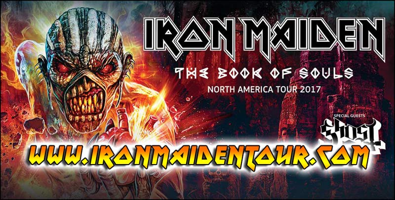 IRON MAIDEN will be on tour throughout 2017. Don't miss them when they perform at a venue near you!