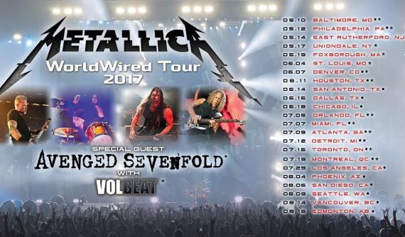 Don't miss your chance to see METALLICA with AVENGED SEVENFOLD and VOLBEAT Live in their WorldWired Tour.