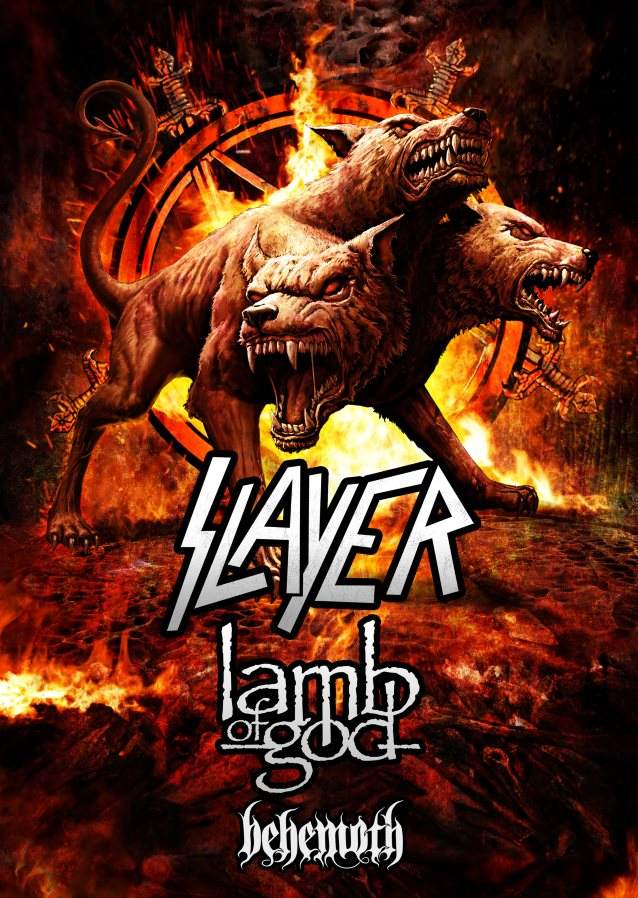 SLAYER has just announced their 2017 tour plans with Lamb Of God and Behemoth. Do NOT miss this awesome metal tour!