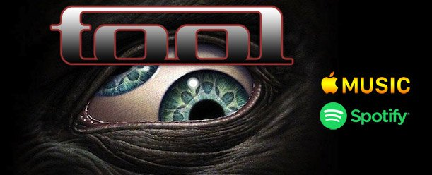Will we ever hear TOOL streaming through music services? It appears so says Spotify and Apple Music