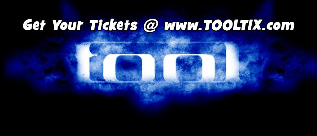It's not that often that TOOL comes along and goes on tour, so don't miss your chance to see them live.