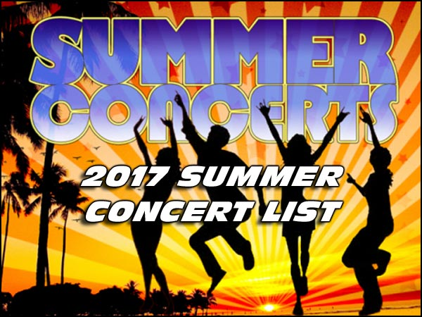 We hope that you have an awesome 2017 Summer! With all this great live music to choose from, we're pretty sure that won't be a problem.