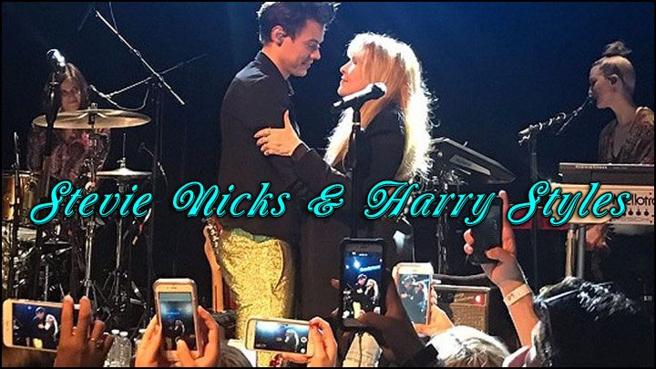 Here's a still photo of the duo in action; Stevie Nicks and Harry Styles from The Troubadour from the other night.