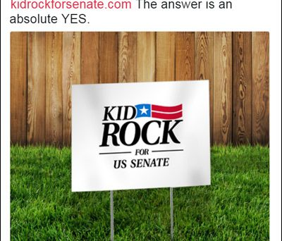You heard correctly, KID ROCK will be running for a seat in the Senate!