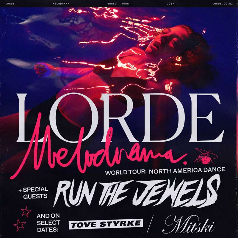 Lorde will be performing live on her 2018 Melodrama Tour. Don't miss your chance to see her in concert!