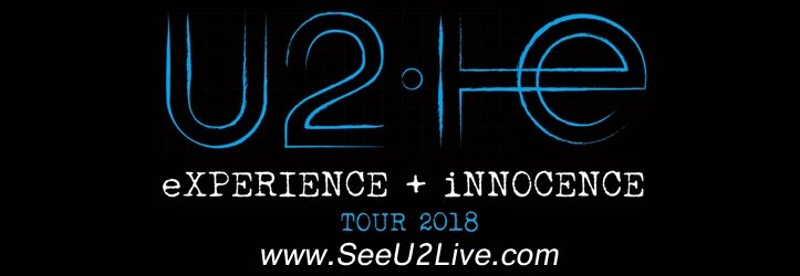 Don't miss your chance to see U2 in concert during their 2018 eXPERIENCE + iNNOCENCE Tour.