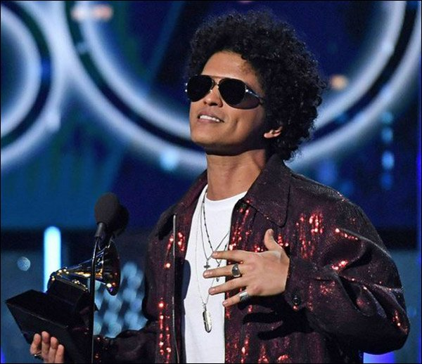 Bruno Mars received 7 Grammys, including Album, Song and Record of the Year. Don't miss him on tour this year!