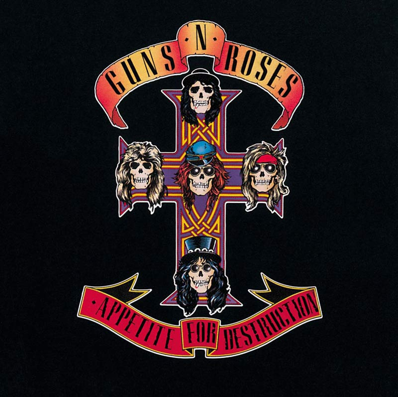 Album Cover artwork for Appetite For Destruction by Guns N' Roses.