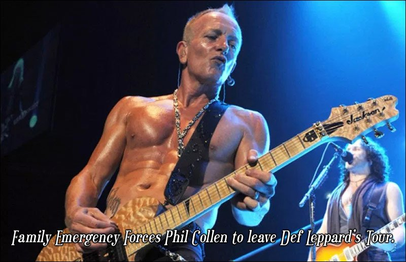 Phil Collen has taken an unexpected leave of Def Leppard just as their tour began with Journey. Hopefully he will return shortly.