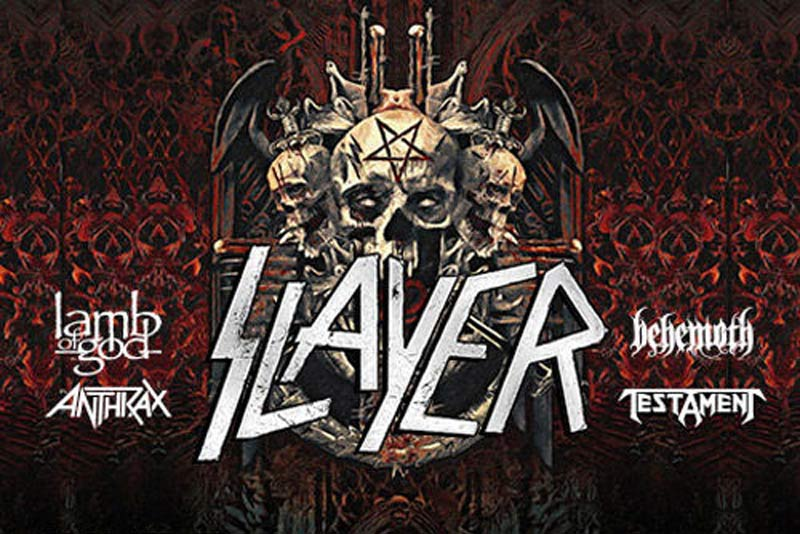 SLAYER has just announced their 2018 farewell tour plans with Lamb Of God, Anthrax, Behemoth and others. Do NOT miss this awesome metal tour!