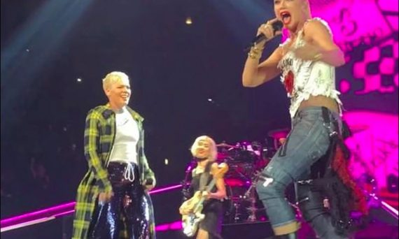 P!NK performs with Gwen Stefani at her concert in Los Angeles. Watch the video below.