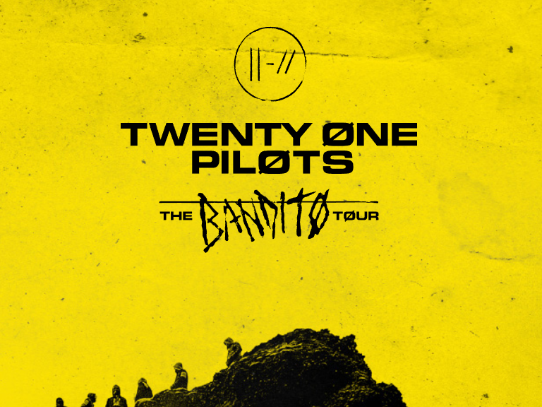 Don't miss Twenty One Pilots when they are on their Bandito Tour throughout the end of this 2019 year.