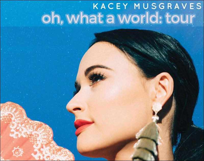 "Kacey Musgraves goes on her ""Oh, What a World Tour"" beginning in early 2019. Catch her in concert at a venue near you."