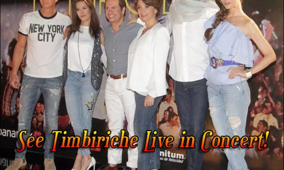 Timbiriche is back and will be on tour in celebration of their 35th Anniversary. Check them out at a venue near you.