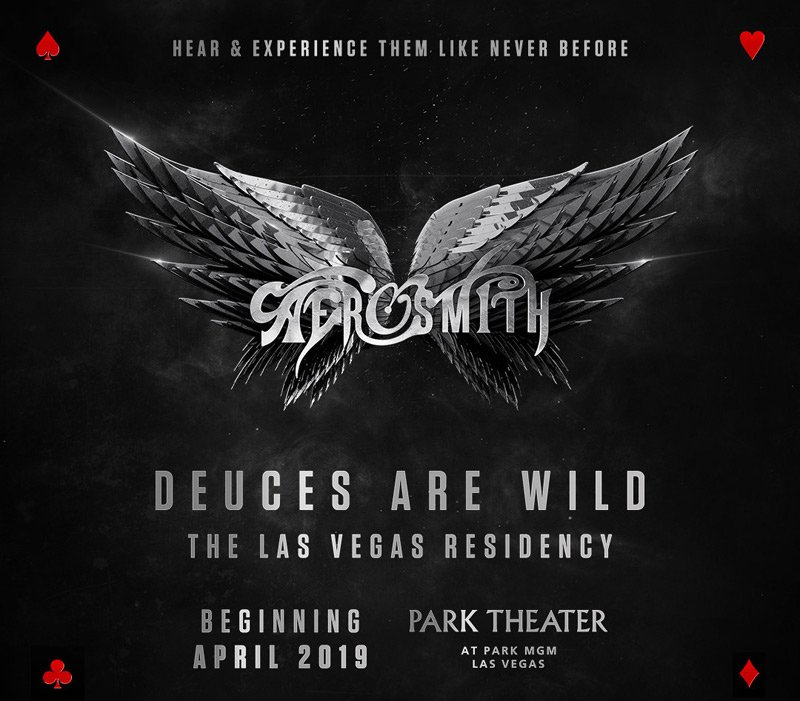 Aerosmith will be performing a stint in Las Vegas called Deuces Are Wild, don't miss it!