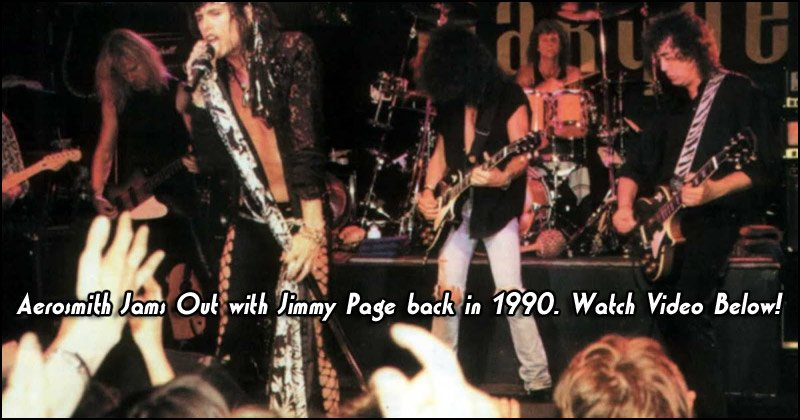 Aerosmith Jams out with Jimmy Page at the Marquee Club back in 1990. Watch the video below!