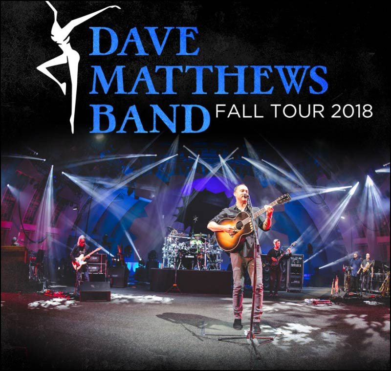 Dave Matthews Band will be on tour at the end of this year. Catch them at a venue near you!