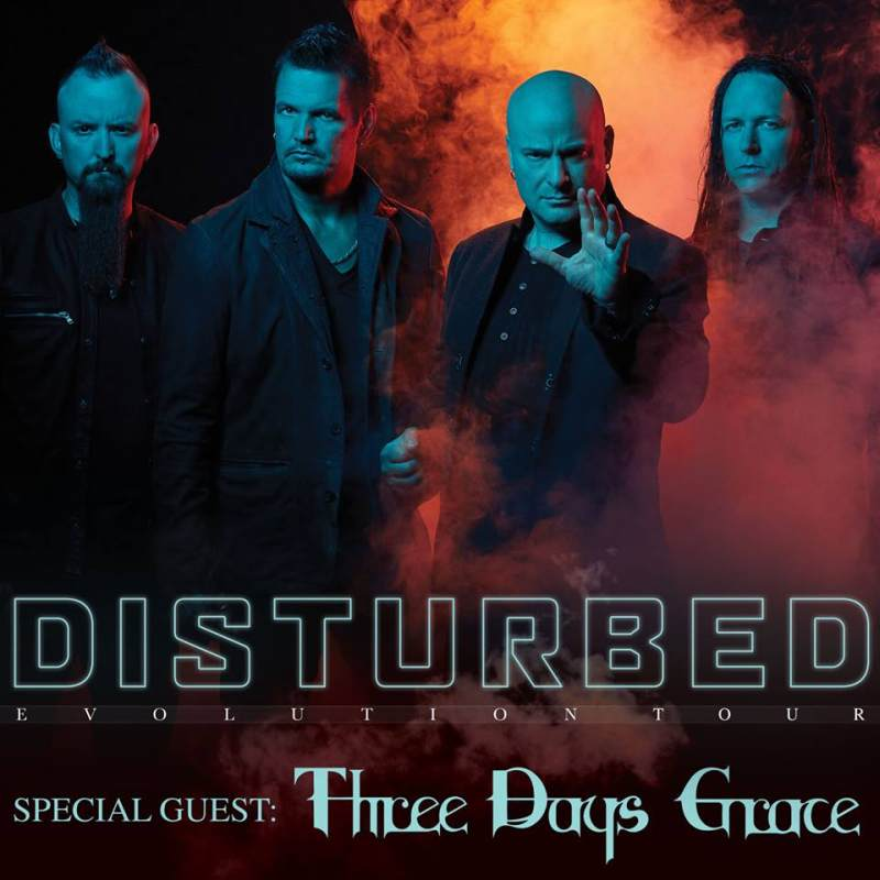 Disturbed will be on tour in the beginning of the 2019 year. They will be performing with special guest Three Days Grace.