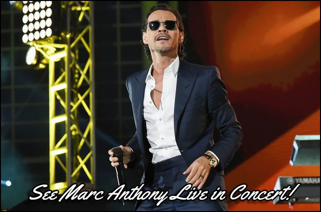 This picture was taken of Marc Anthony performing live back in 2017 at One Voice: Somos Live! A Concert For Disaster Relief at Marlins Park.