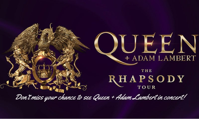 Queen + Adam Lambert will be on tour this 2019 year on their 'Rhapsody Tour'. Don't miss your chance to see this great classic rock band live in concert.
