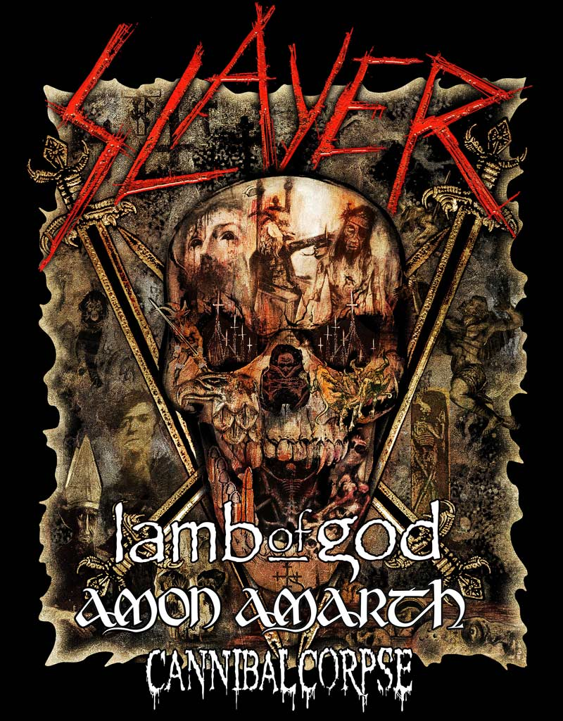 Slayer continues their final tour ever with new dates for North America in May of 2019.