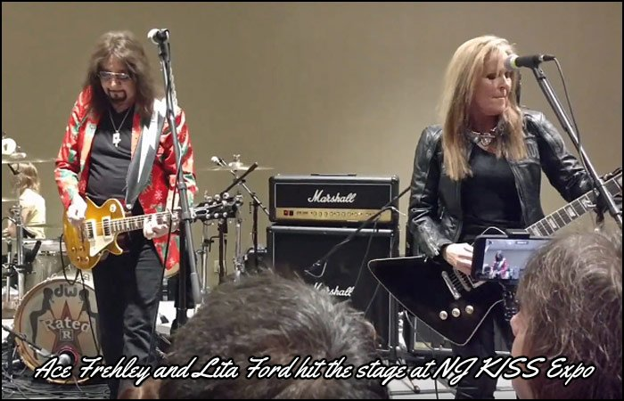 Ace Frehley and Lita Ford hit the stage together at the December 8th NJ KISS Expo.
