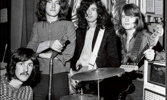 Here's a picture of the band Led Zeppelin from way back in 1969