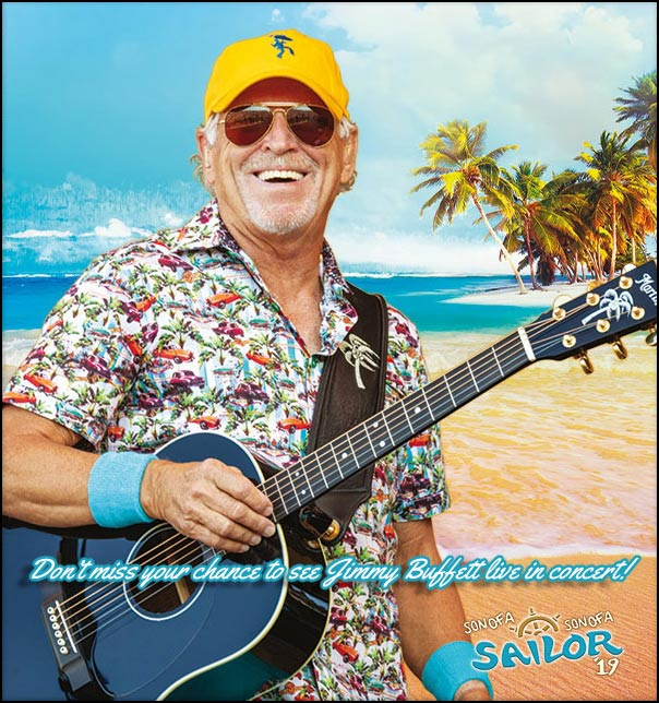 Don't miss your chance to see Jimmy Buffett live in concert.