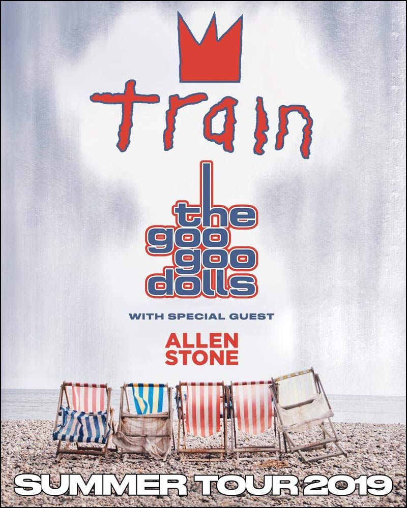 This is definitely going to be one heck of a concert! The shows will be amazing and will most probably sell out quickly. Secure your chance of going by getting tickets as soon as you can. Don't miss Train & The Goo Goo Dolls (along with Special Guest Allen Stone)