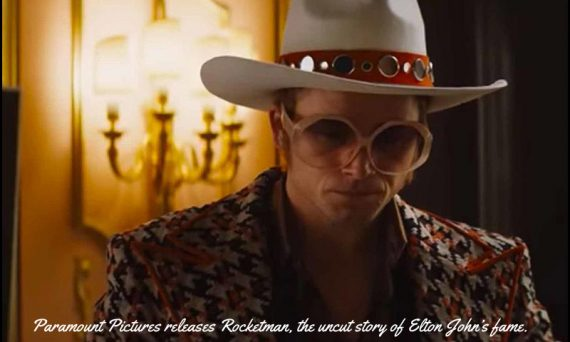 The full trailer for Paramount Pictures' ROCKETMAN has been released. It stars Taron Egerton as Elton John. Watch the video below.