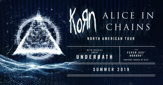 Heavy Metal legends KORN will be on tour with Alice In Chains in 2019 as they perform in amphitheaters across North America.