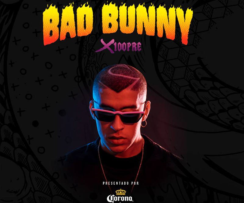 Don't miss BAD BUNNY while he is on his X100PRE Concert Tour.