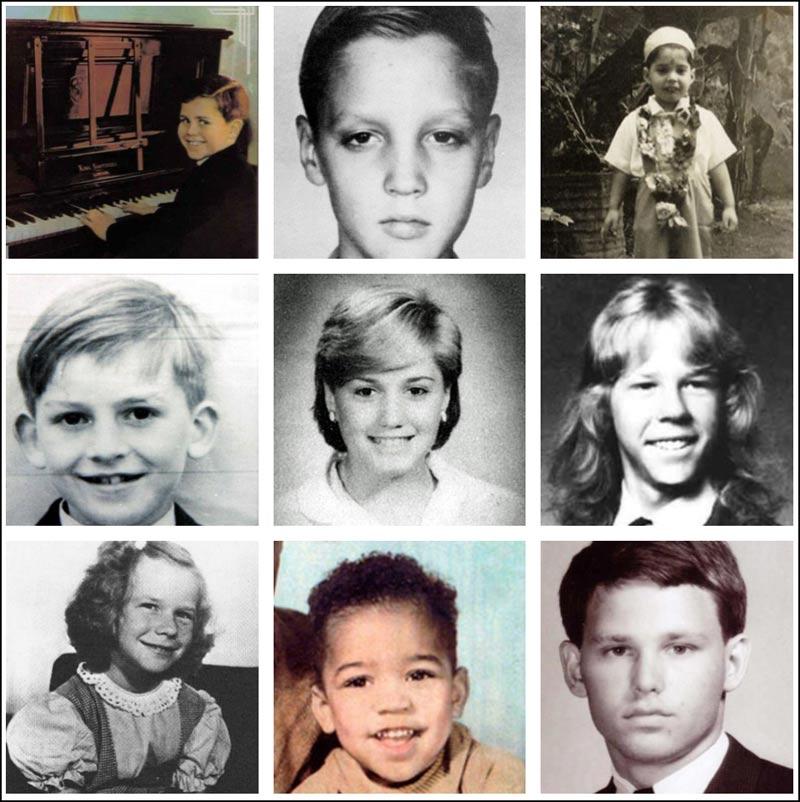 In this second collage we have Elton John, Elvis, Freddie Mercury, George Harrison, Gwen Stefani, James Hetfield, Janis Joplin, Jimi Hendrix and Jim Morrison.
