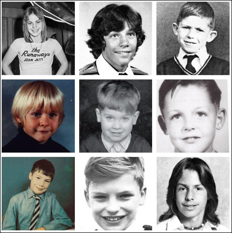 In this 3rd and final collage you'll find Joan Jett, Jon Bon Jovi, Keith Richards, Kurt Cobain, Ozzy Osbourne, Paul McCartney, Sid Vicious, Sting and Vince Neil.