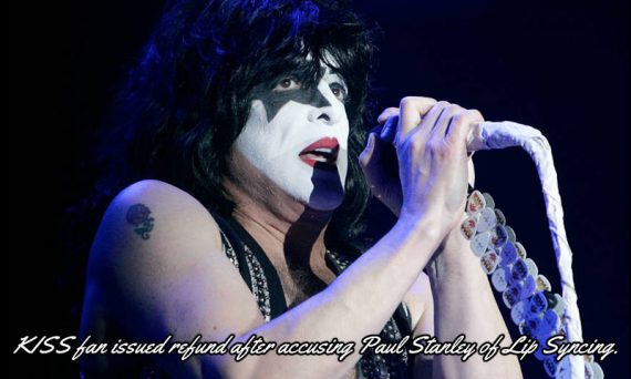 A fan at a recent KISS concert complained of witnessing Paul Stanley lip sync to some of their live songs, and Ticketmaster went as far as refunding the cost of the tickets. Listen to SiriusXM's Eddie Trunk discuss the issue in the video below.