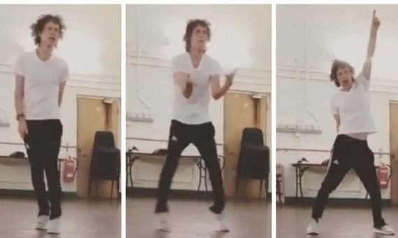 Even heart surgery can't keep Mick Jagger down. Here we see him post-surgery practicing his footwork and dance moves. See more in the video below.