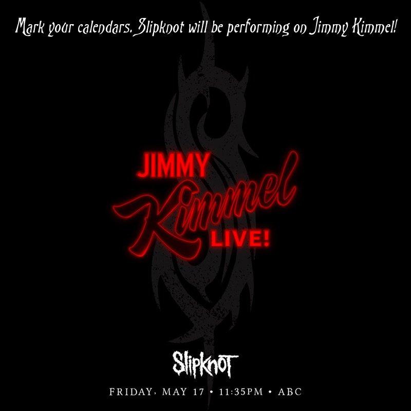 Slipknot to perform Mini-Concert on Jimmy Kimmel Show