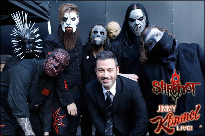 Slipknot Performs Live on Jimmy Kimmel Show, Watch Videos Here.