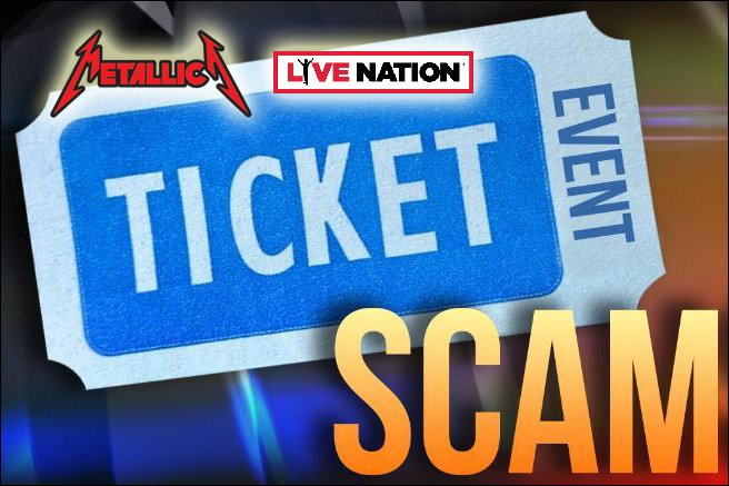 Employees of Live Nation and the band Metallica were caught with their hands in the ticket jar.