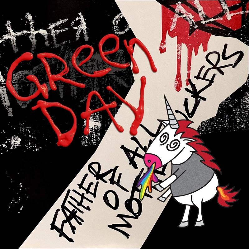 Green Day's newest studio album will be released on January 17th, 2020. Here's a pic of the cover art of the upcoming album.