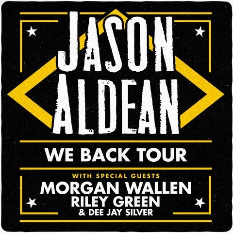 Jason Aldean Plots Headlining 2020 We Back Tour. On the road with the country music star will be Morgan Wallen, Riley Green & Dee Jay Silver.
