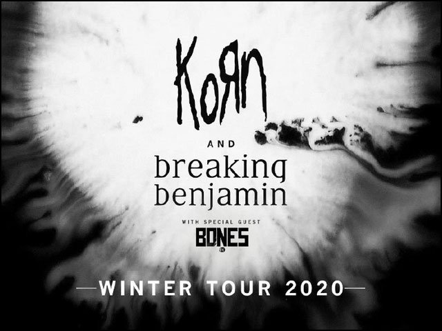This set of shows should be something not to miss! Both Korn and Breaking Benjamin in the same live show! Get your tickets now before it's too late.
