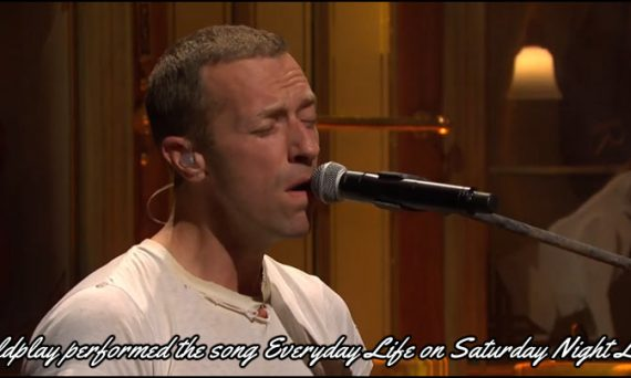 Coldplay performed their new song Everyday Life live on Saturday Night Live on November 2nd, 2019.
