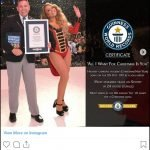 Here's a screen shot of the Instagram post that Mariah Carey made about her and her 3 Guinness World Records.