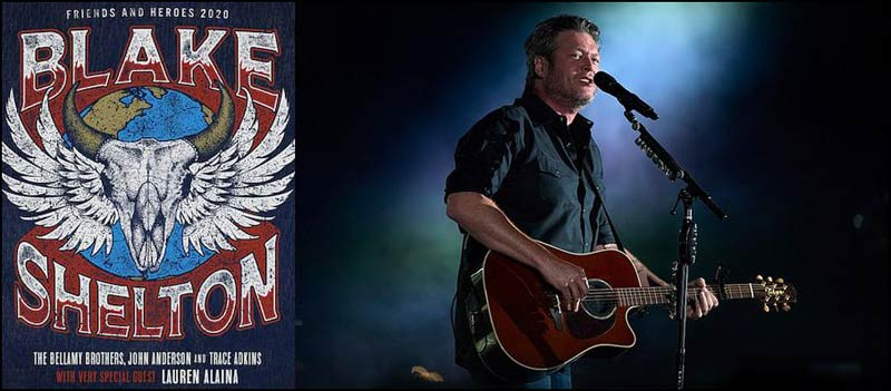 Don't miss Blake Shelton on tour in 2020 with Lauren Alaina, Trace Adkins, The Bellamy Brothers and John Anderson. If you're a fan of country music, this is a dream come true!