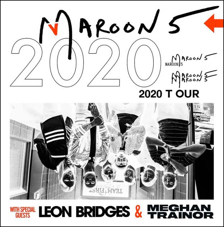 Don't miss Maroon 5 on their 2020 Tour with Meghan Trainor and Leon Bridges.